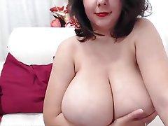 BBW, Big Boobs, Big Nipples, Masturbation