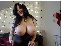Big Boobs, Big Nipples, Dildo, Big Tits