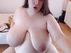 Webcam, Amateur, BBW, Masturbation, Saggy Tits